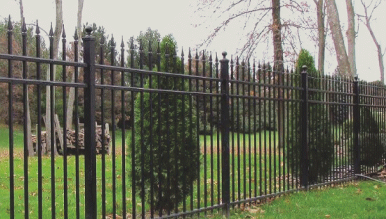 Wrought iron fences look great and most are made out of aluminum and are know as ornamental fences. They are great for security and are very strong.